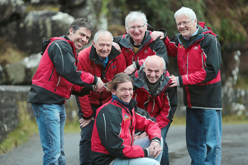 Members of Kerry Mountain Rescue who took part in Today FM's 'Shave or Dye' to raise money for the Irish Cancer Society