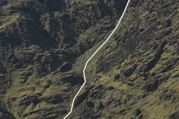 The line of the Devil's Ladder itself, which demands care (especially when icy or in wet weather).