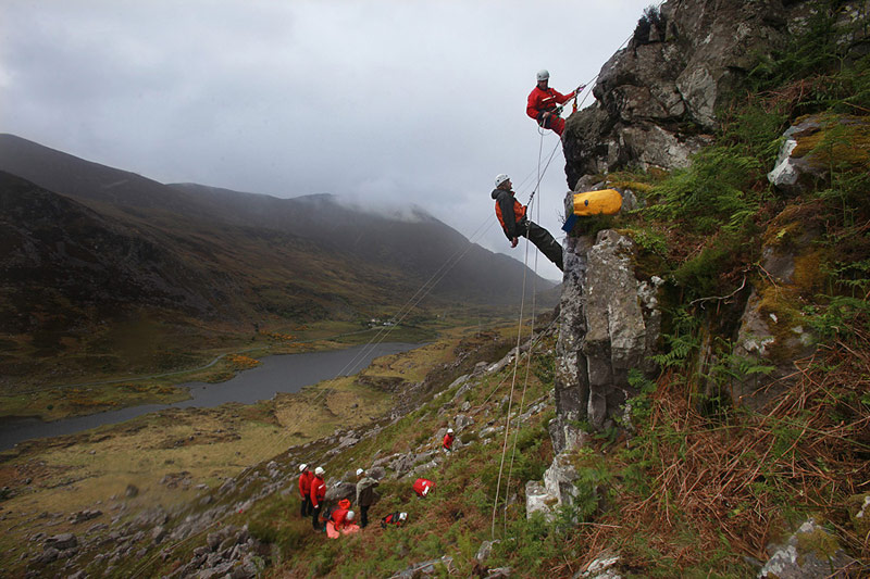 Rope and first aid training in the Gap of Dunloe.