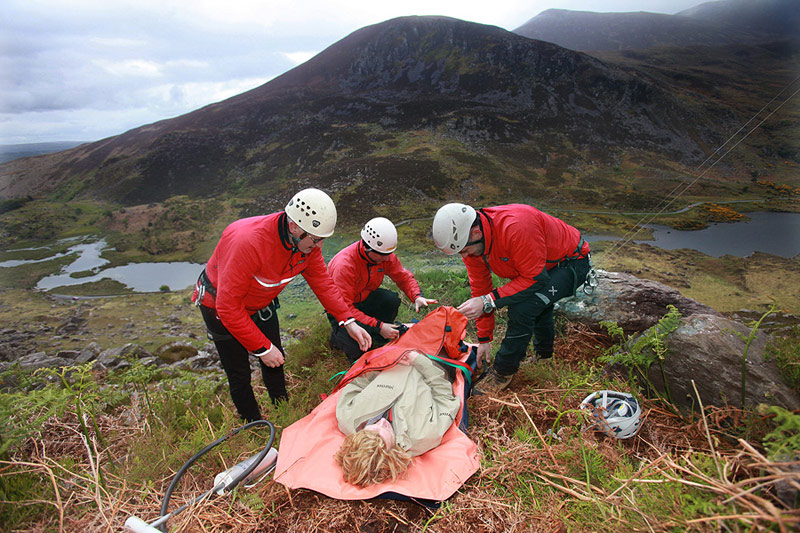 First aid training in the Gap of Dunloe.