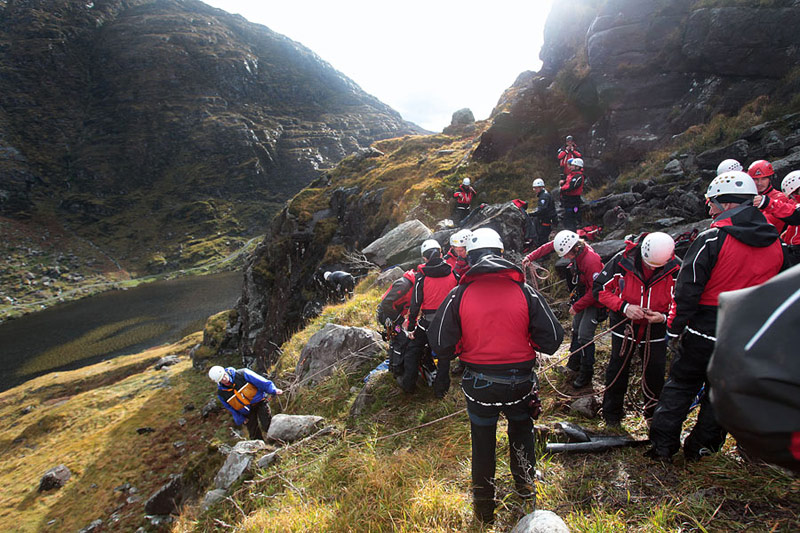 Training with Oldham Mountain Rescue team.