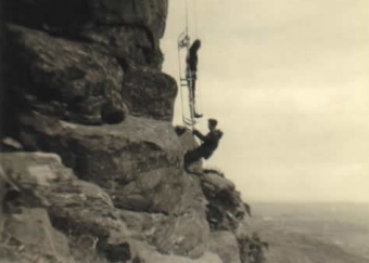 Brotherly love? Michael Foley guided by Dermot Foley. Gap of Dunloe 26th May 1968.