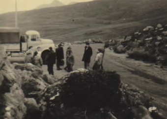 With UCD climbers at Bealagh Oisin 29th September 1968.