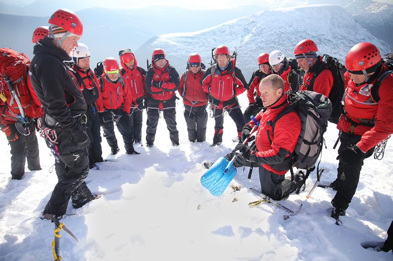 The team training in the Eastern Reeks