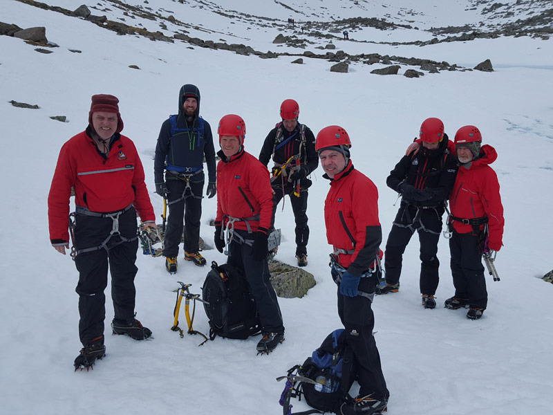 Team members in Coire na Sneachta, Cairngorms