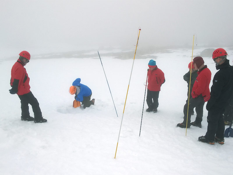 Avalanche training in the Cairngorms