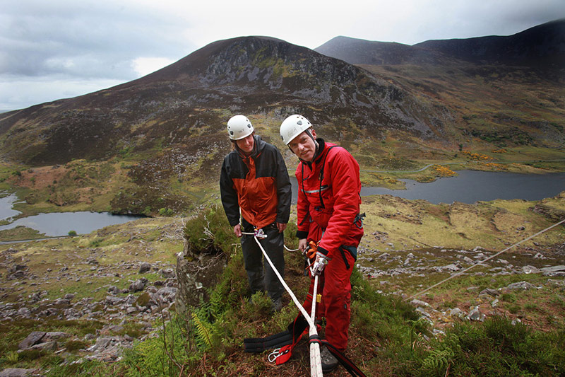 Tony Holmes and Dermot Reen training in the Gap of Dunloe.