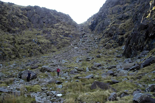 Looking up the slope of the Devil's Ladder