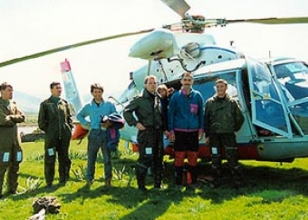 The Air Corps Dauphín, with Pat Grandfield, Sean Eviston and crew.