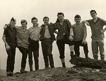 From left to right: Pat Ahern, Eric Brick, James Flynn, Gearóid O'Sullivan, Paddy O'Callaghan, Karl Daly and Seán Ó Súilleabháin.