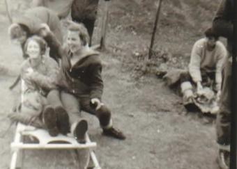 Mary O'Sullivan, Pat O'Mahony. I.M.R.A. excercise 1969.