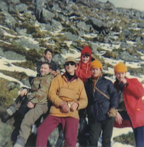 Pat Ahern, Betty Neeson, Gearoid O'Sullivan, Gene O'Shea, Peter O'Driscoll, Val McCarthy. c1970.